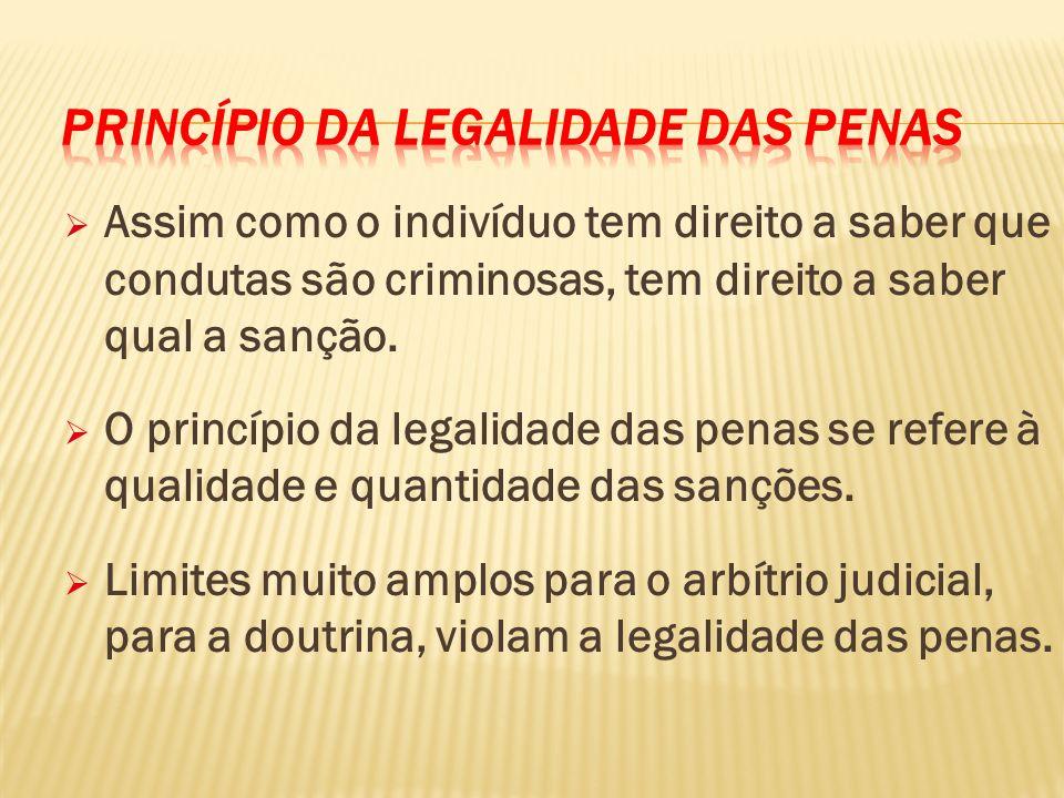 Princípio da Legalidade das Penas