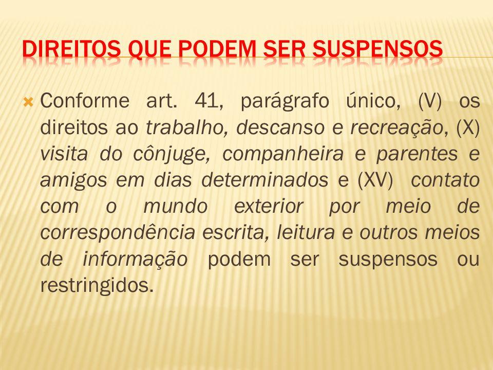 Direitos que podem ser suspensos