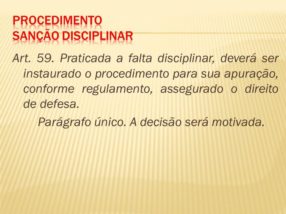 Procedimento Sanção Disciplinar