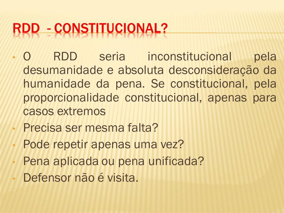 RDD - Constitucional