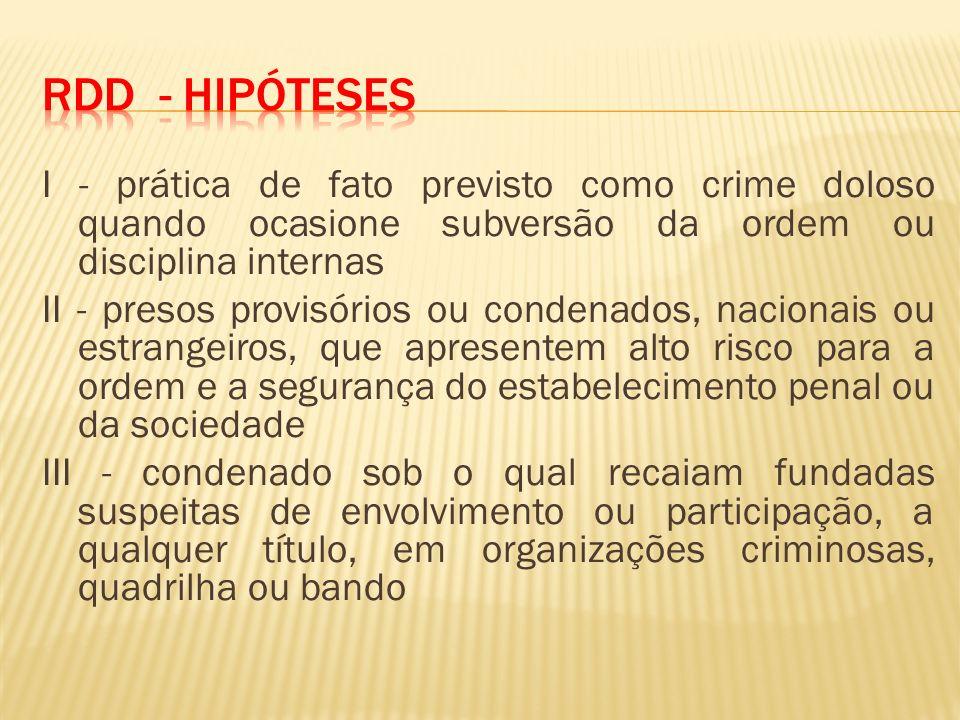 RDD - Hipóteses