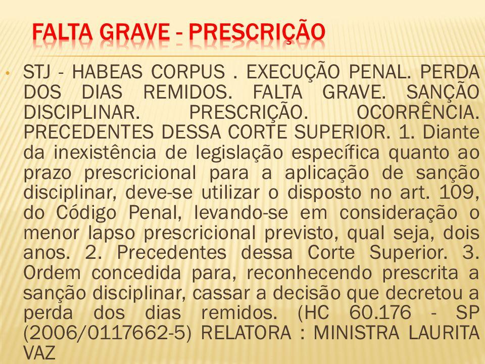 Falta Grave - Prescrição