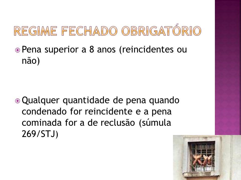 REGIME FECHADO OBRIGATÓRIO