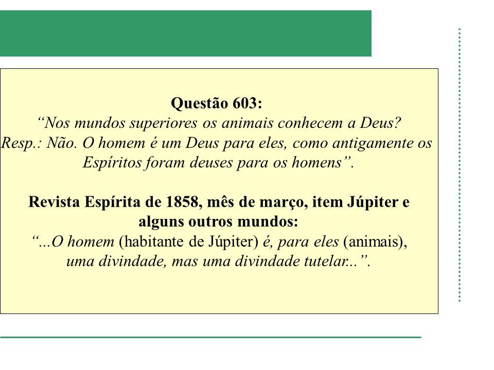 Revista Espírita de 1858, mês de março, item Júpiter e