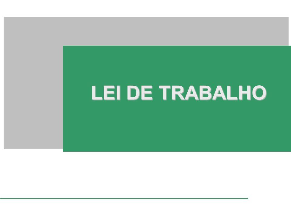 LEI DE TRABALHO