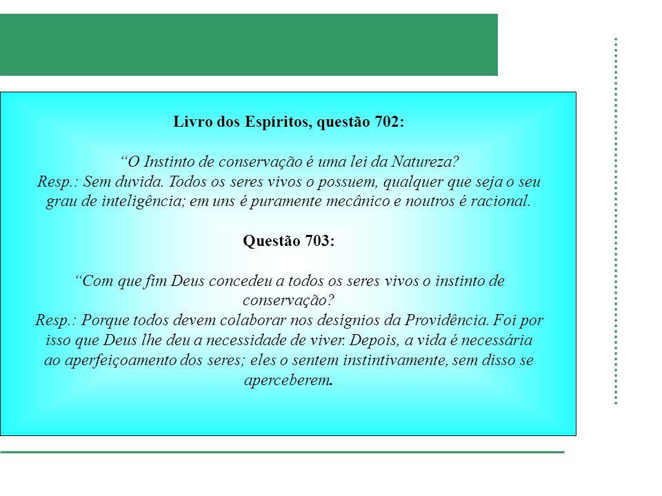 Livro dos Espíritos, questão 702: