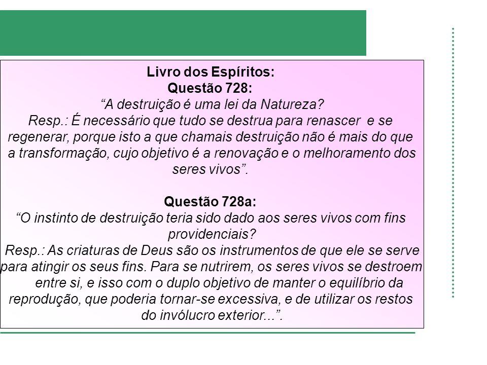 Livro dos Espíritos: Questão 728: Questão 728a: