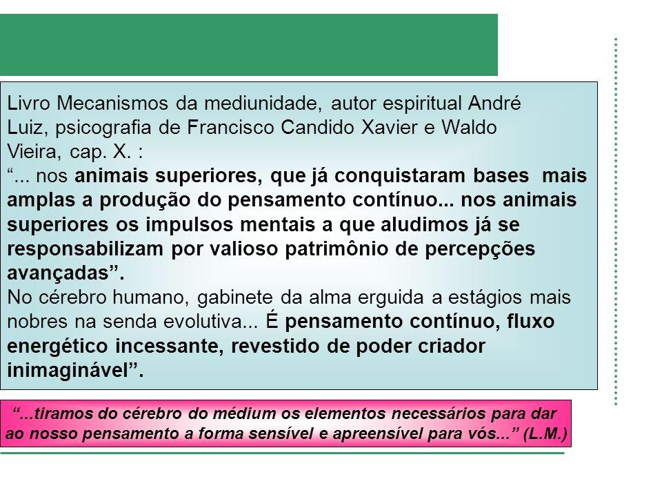 Livro Mecanismos da mediunidade, autor espiritual André