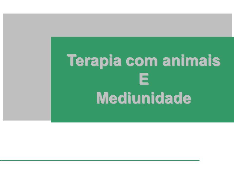 Terapia com animais E Mediunidade