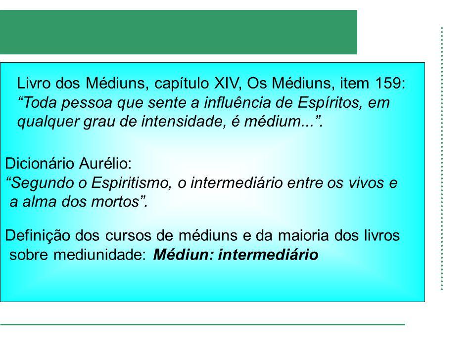 Dicionário Aurélio: Segundo o Espiritismo, o intermediário entre os vivos e. a alma dos mortos .