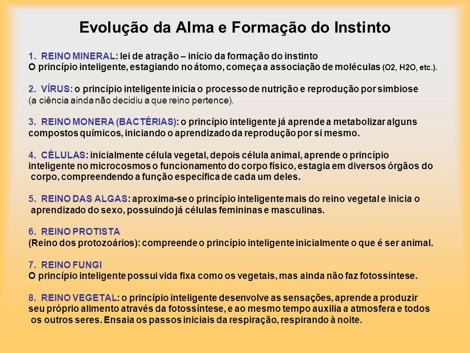Evolução da Alma e Formação do Instinto