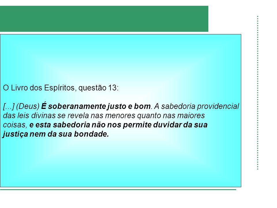 O Livro dos Espíritos, questão 13: