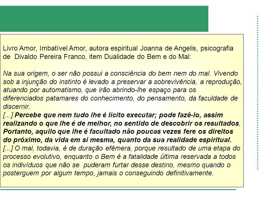 Livro Amor, Imbatível Amor, autora espiritual Joanna de Angelis, psicografia