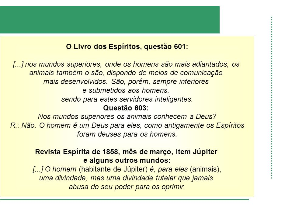 O Livro dos Espíritos, questão 601: