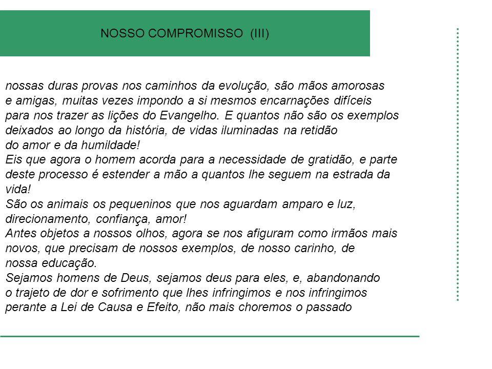 NOSSO COMPROMISSO (III)