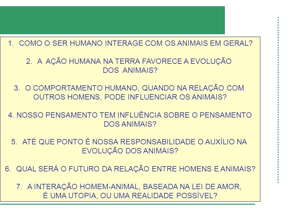 COMO O SER HUMANO INTERAGE COM OS ANIMAIS EM GERAL