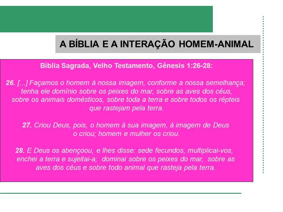 A BÍBLIA E A INTERAÇÃO HOMEM-ANIMAL