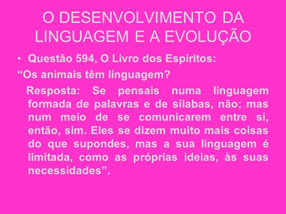 O DESENVOLVIMENTO DA LINGUAGEM E A EVOLUÇÃO