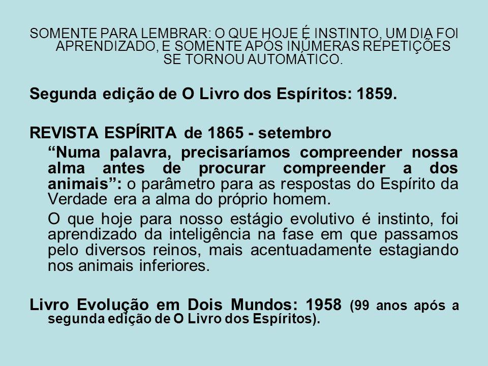 Segunda edição de O Livro dos Espíritos: 1859.