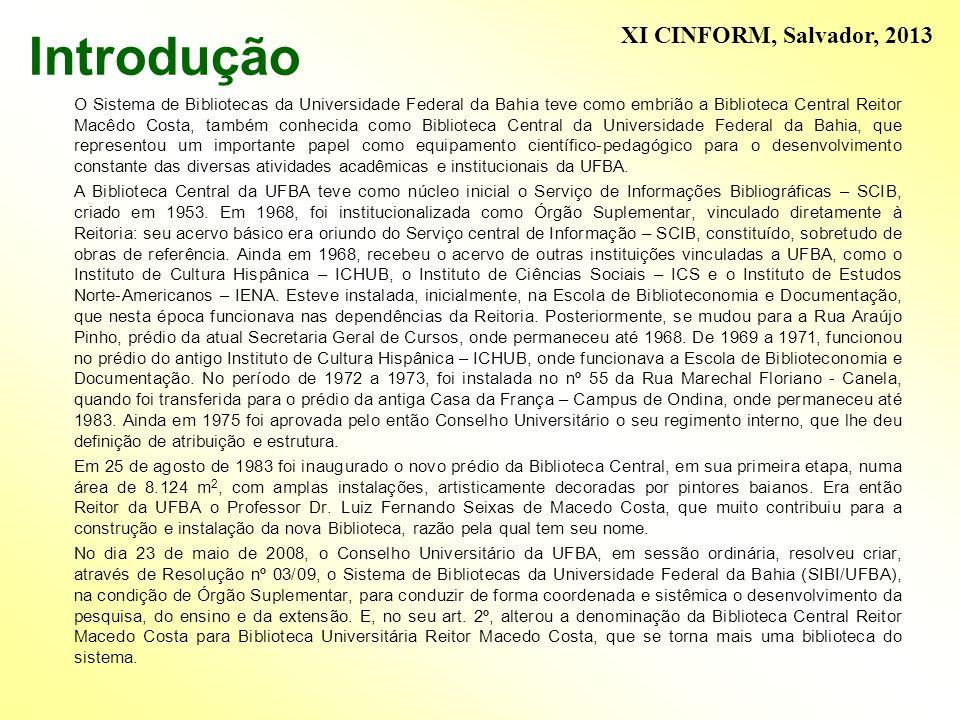 Introdução XI CINFORM, Salvador, 2013