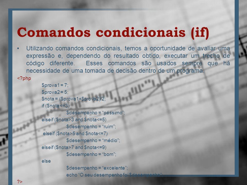 Comandos condicionais (if)