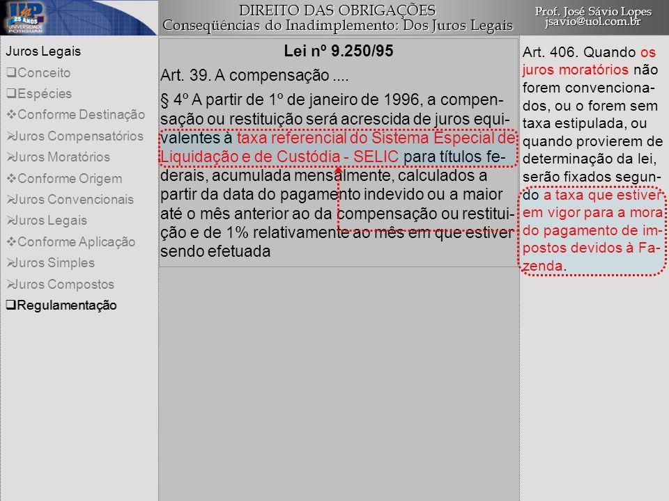 Lei nº 9.250/95 Art. 39. A compensação ....