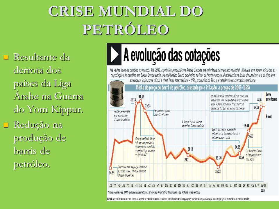 CRISE MUNDIAL DO PETRÓLEO