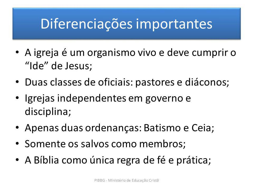 Diferenciações importantes