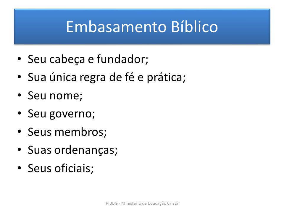 PIBBG - Ministério de Educação Cristã