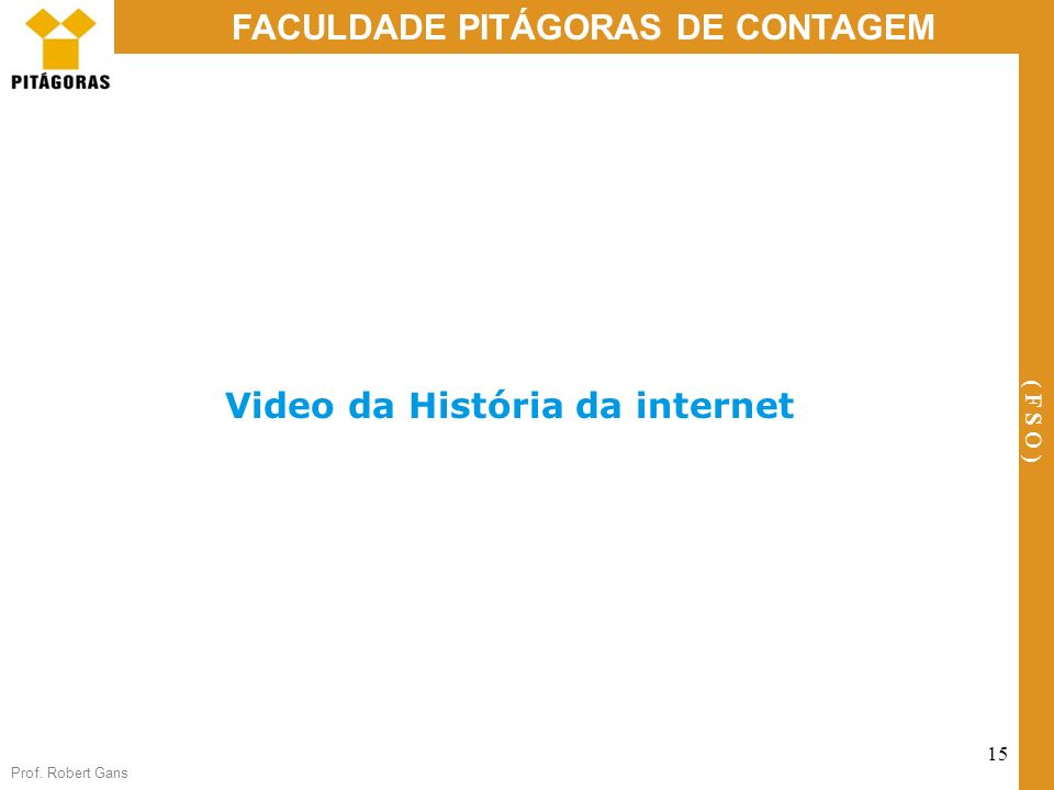 Video da História da internet
