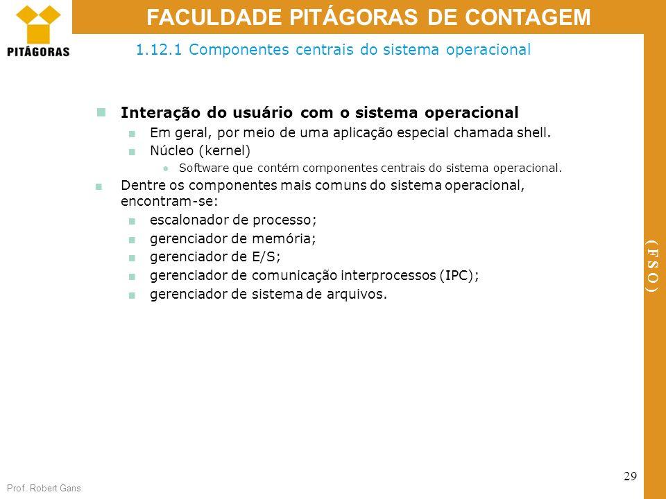 1.12.1 Componentes centrais do sistema operacional