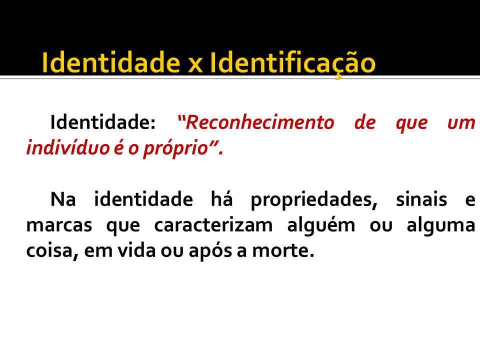 Identidade x Identificação