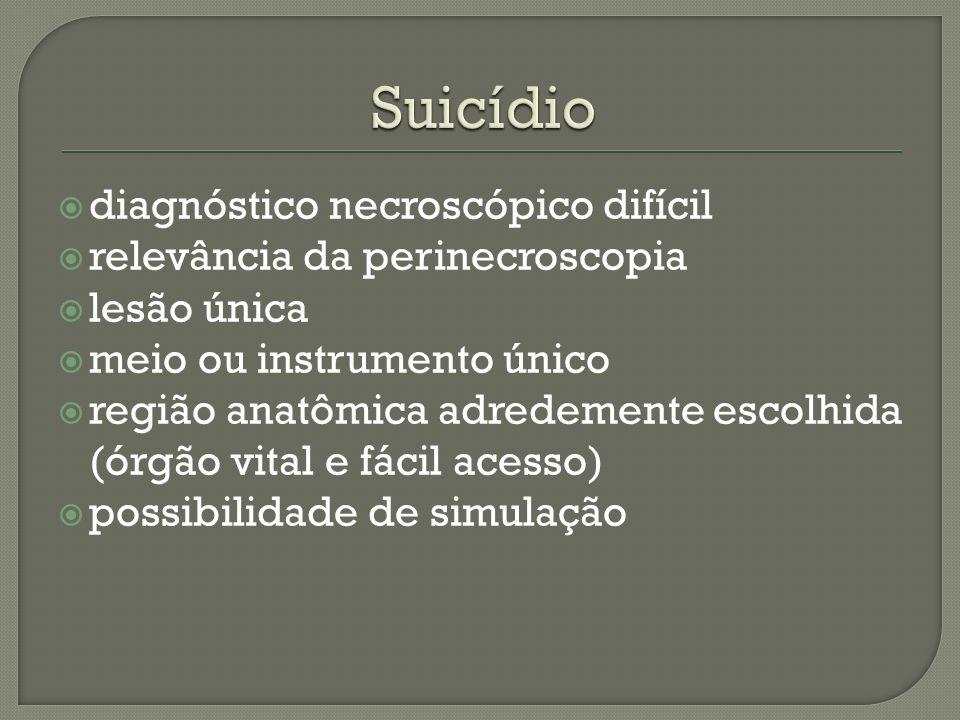 Suicídio diagnóstico necroscópico difícil