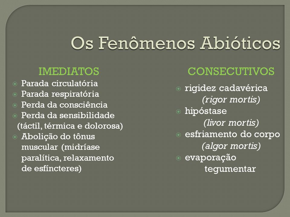 Os Fenômenos Abióticos
