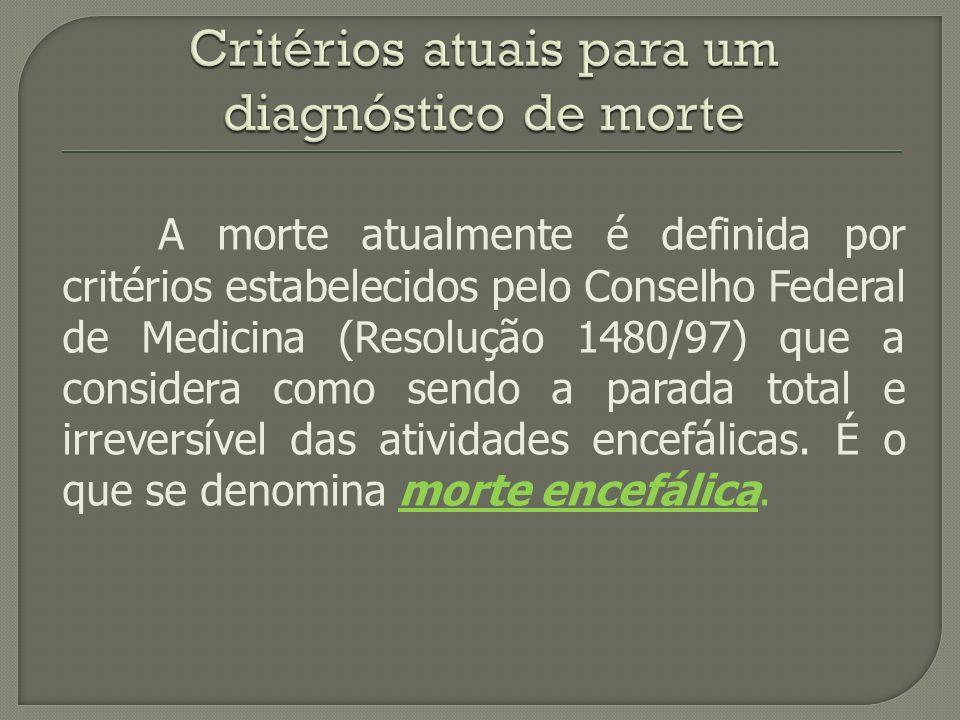 Critérios atuais para um diagnóstico de morte