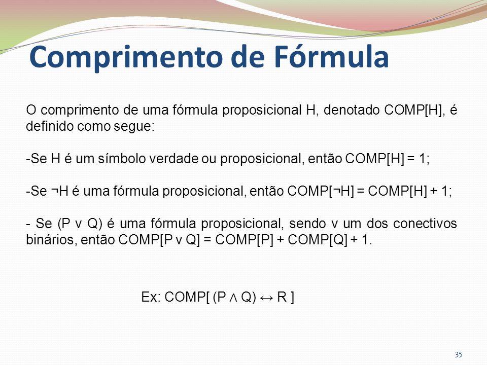 Comprimento de Fórmula