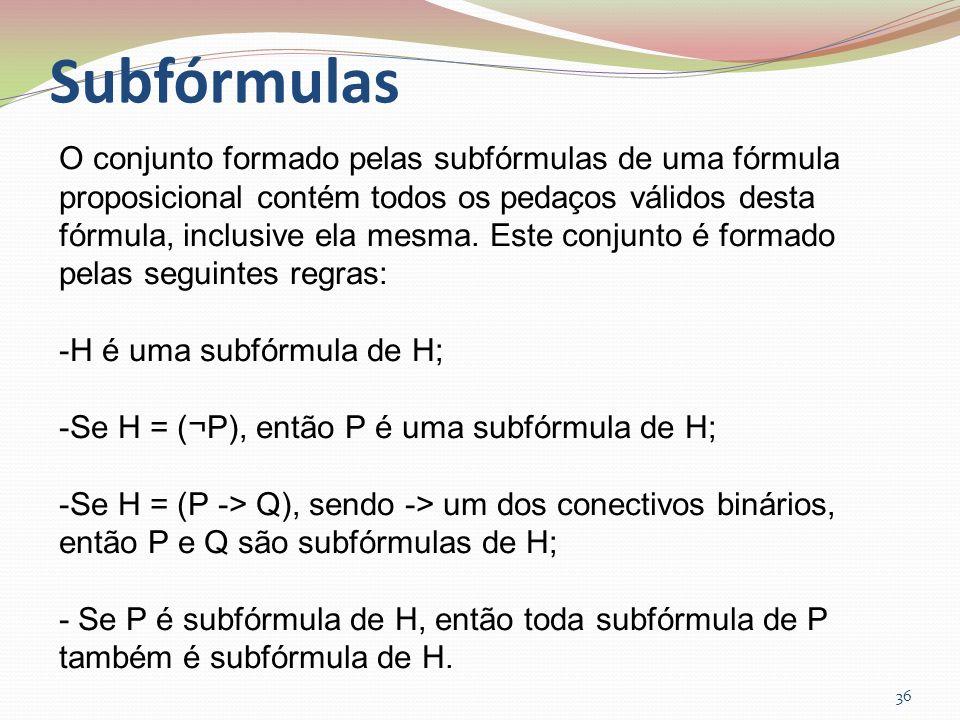 Subfórmulas