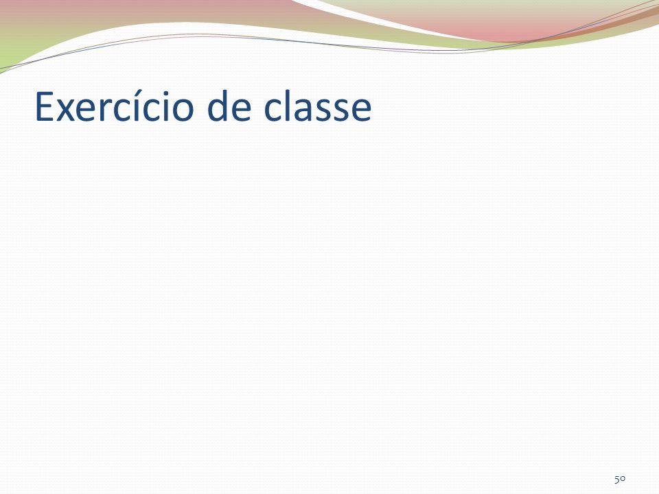 Exercício de classe