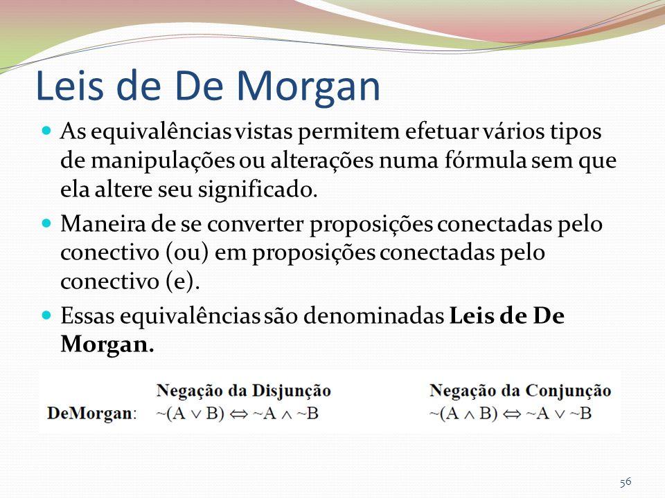 Leis de De Morgan