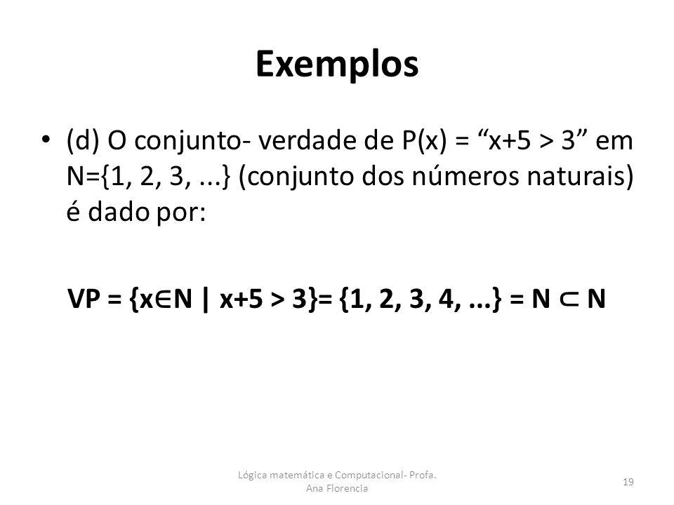 VP = {x∈N | x+5 > 3}= {1, 2, 3, 4, ...} = N ⊂ N