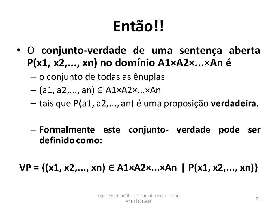 VP = {(x1, x2,..., xn) ∈ A1×A2×...×An | P(x1, x2,..., xn)}