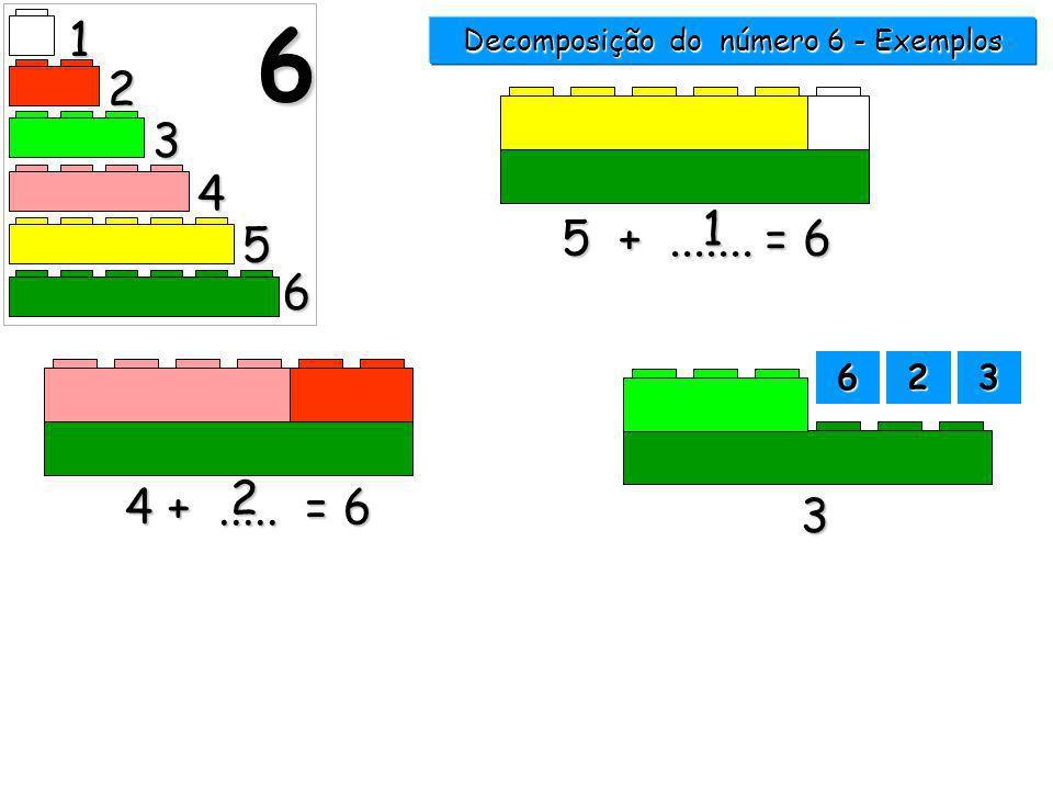 Decomposição do número 6 - Exemplos