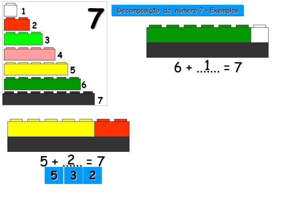 Decomposição do número 7 - Exemplos