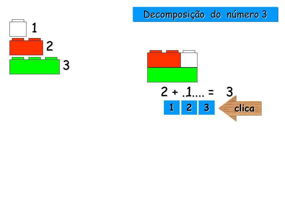 Decomposição do número 3