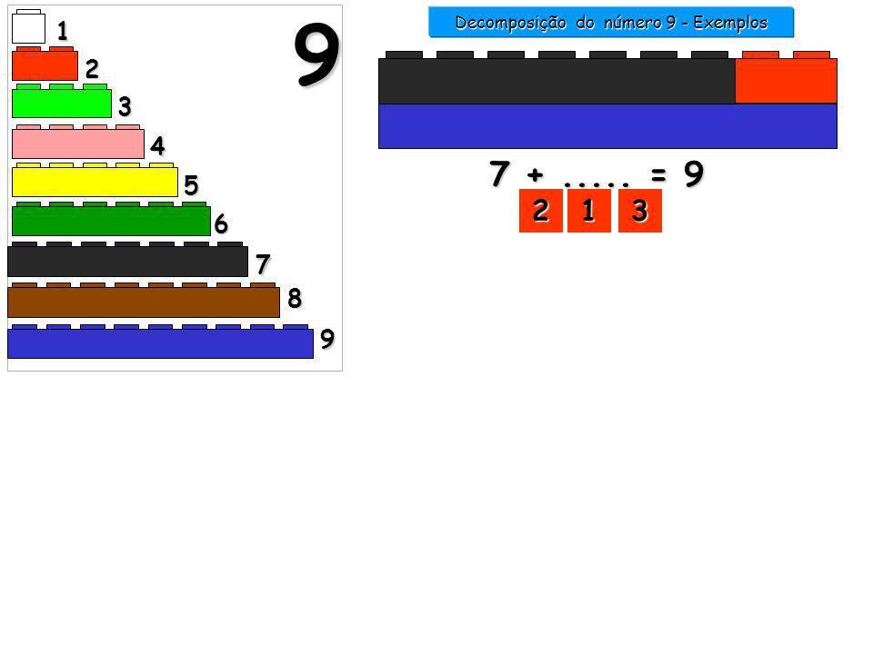 Decomposição do número 9 - Exemplos