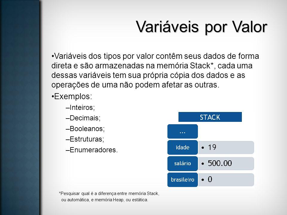 Variáveis por Valor