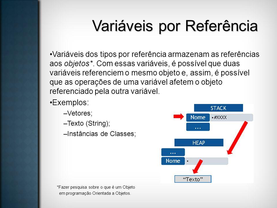 Variáveis por Referência