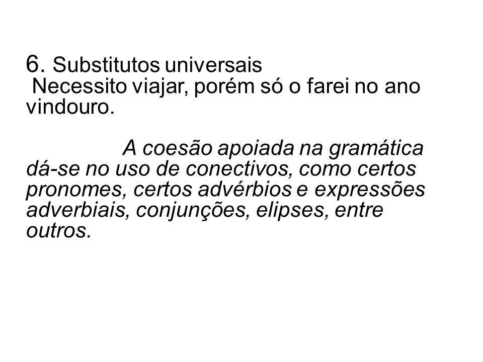6. Substitutos universais
