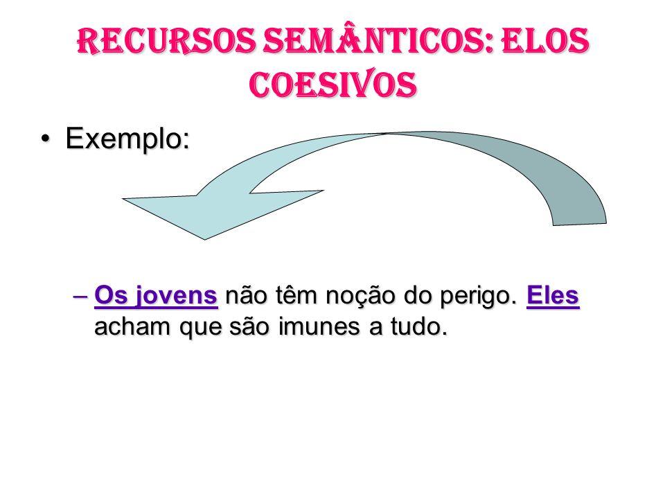 RECURSOS SEMÂNTICOS: ELOS COESIVOS