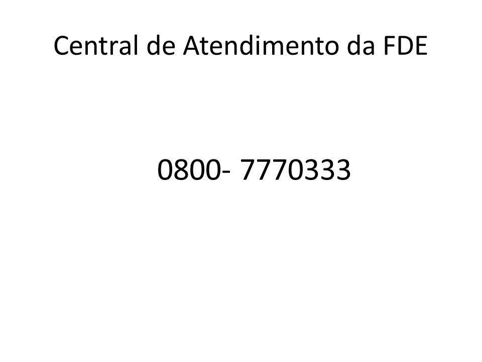 Central de Atendimento da FDE